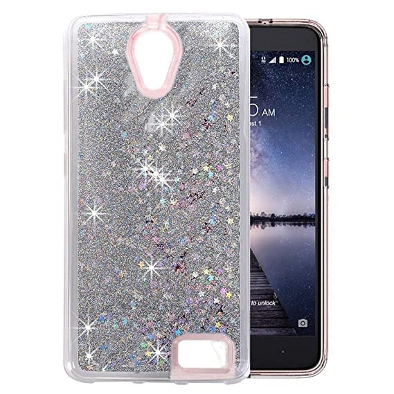 wholesale dealer 65afc 7b076 ZTE Maven 2 Z831 Case,ZTE Prestige N9132 Case,Sparkle Stars Liquid Glitter  Dynamic Stars Soft TPU+Hard PC Case for ZTE Avid Plus Z828/ZTE Sonata 3 ...