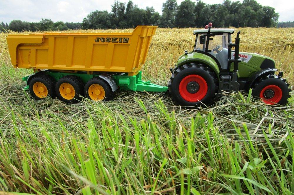 RC Traktor CLAAS Axion 850 mit Anhänger-Wannenkippanhänger 1:16 403703-H 2