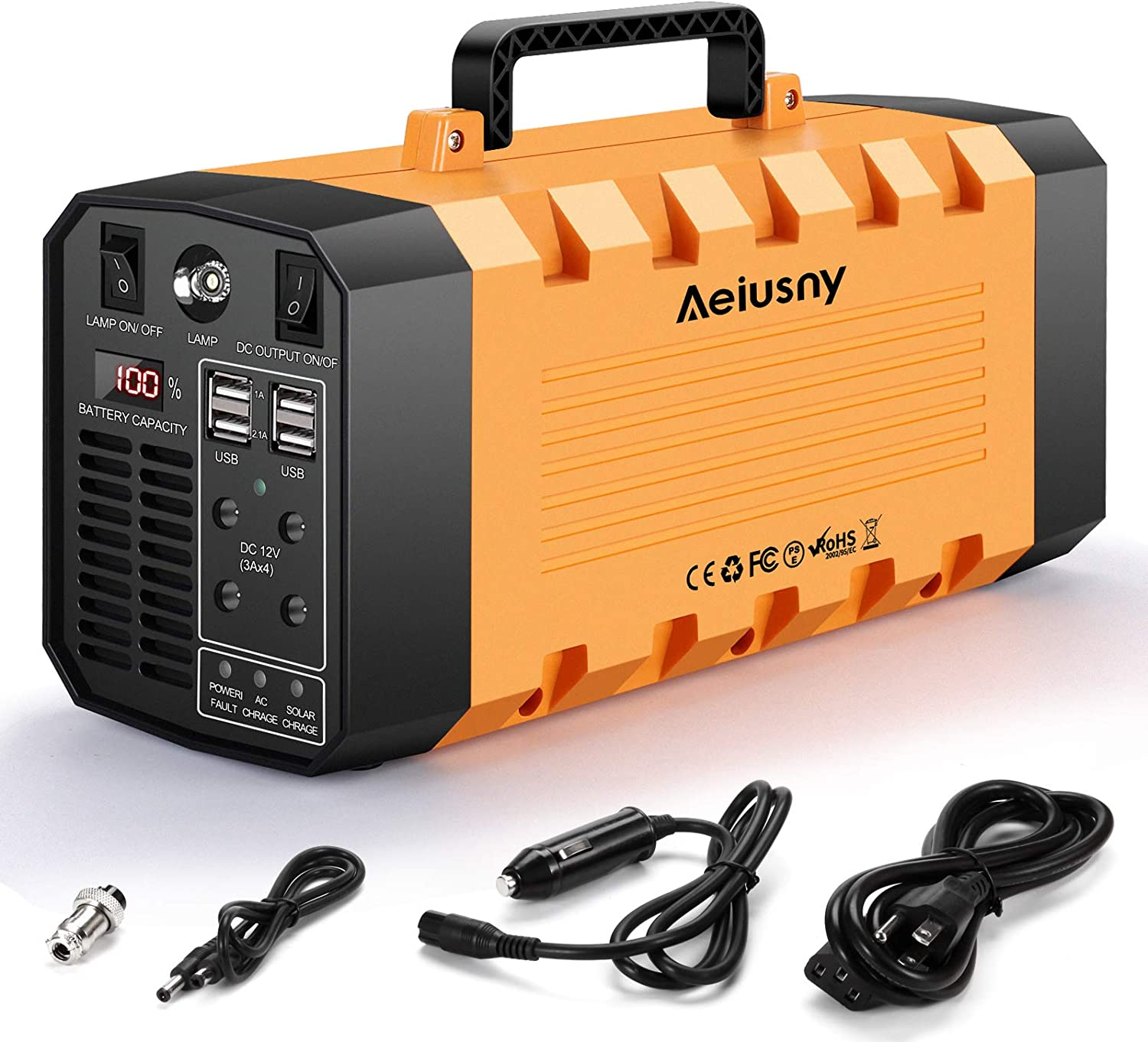 3 DC Ports 2 USB Outputs for Home Emergency Camping CPAP Outdoors AIPER Portable Power Station 167Wh 45000mAh Solar Generator Lithium Battery Backup Power Supply with Dual 110V AC Outlet