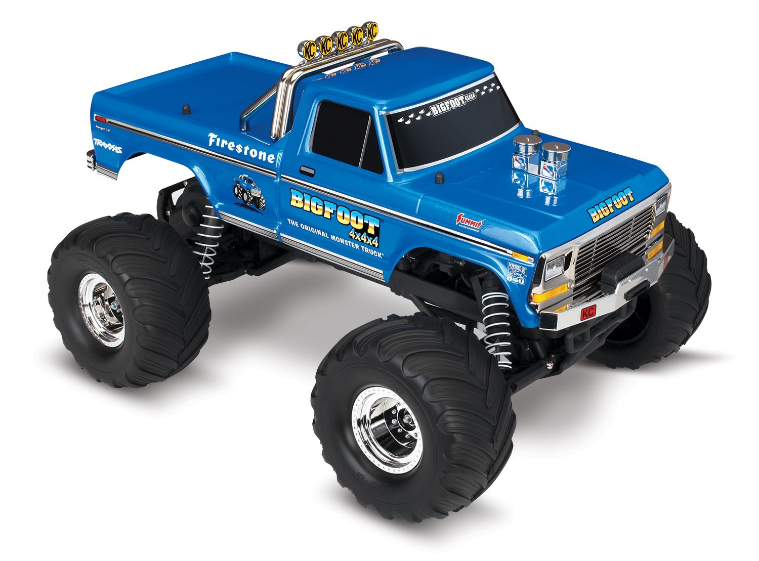 1. Traxxas 36034-1 Bigfoot 1/10 Scale Monster Truck