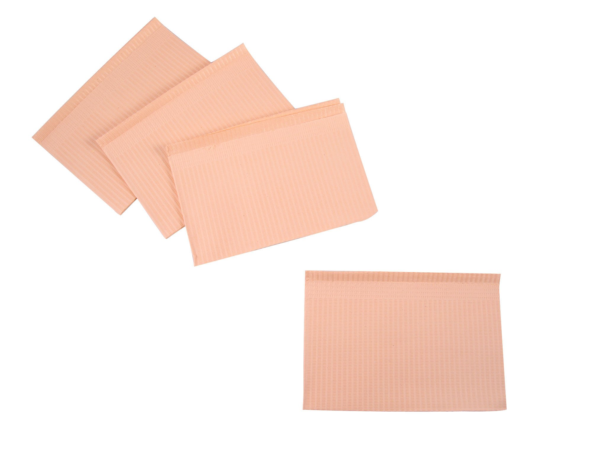 Primo Dental Products PBPE Patient Bib, 2-ply with Poly, 13'' x 18'', Peach (Pack of 500)