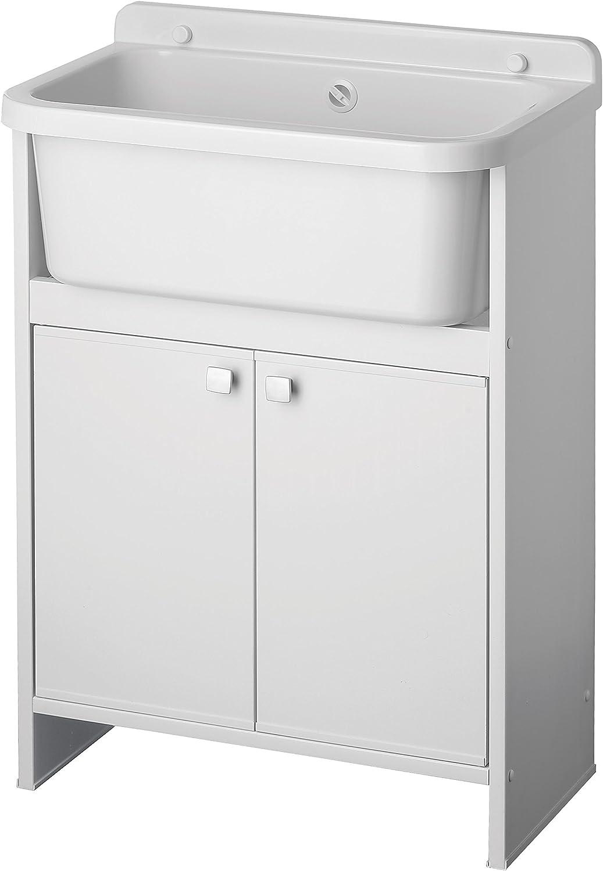 Negrari 5001pkc Lavatoio Salvaspazio, blanco, 55x 35cm
