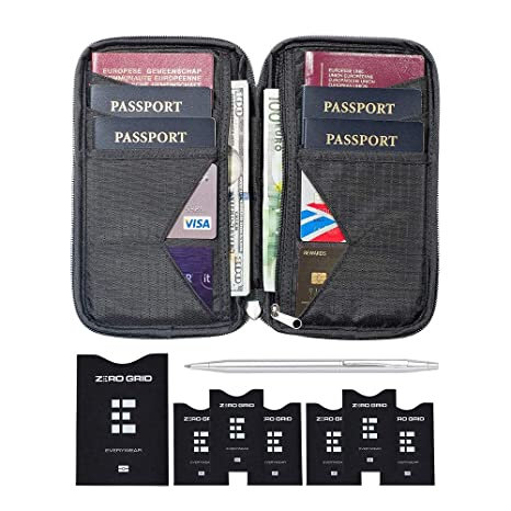 Amazon Com Travel Wallet Family Passport Holder W Rfid Blocking