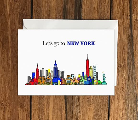 Lets go to new york greeting card a6 amazon handmade lets go to new york greeting card a6 m4hsunfo