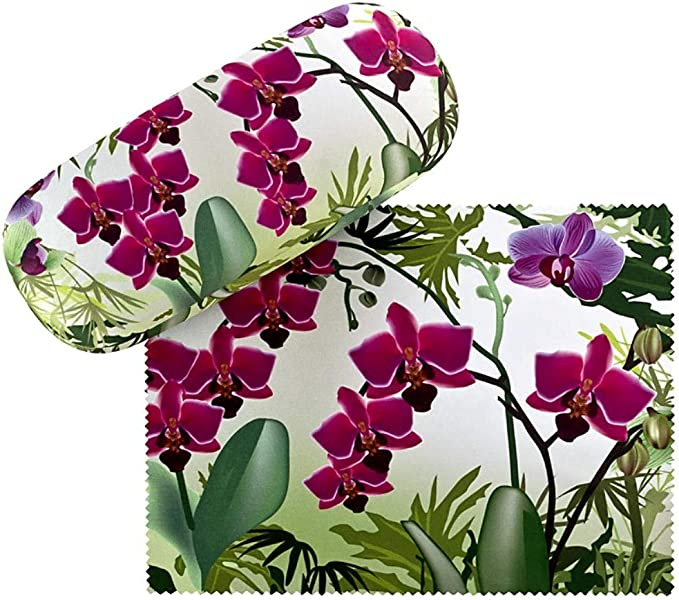 VON LILIENFELD Estuche Gafas Funda Ligeramente Estable Colorido Regalo Mujer Motivo Floral Orquídeas: Amazon.es: Ropa y accesorios