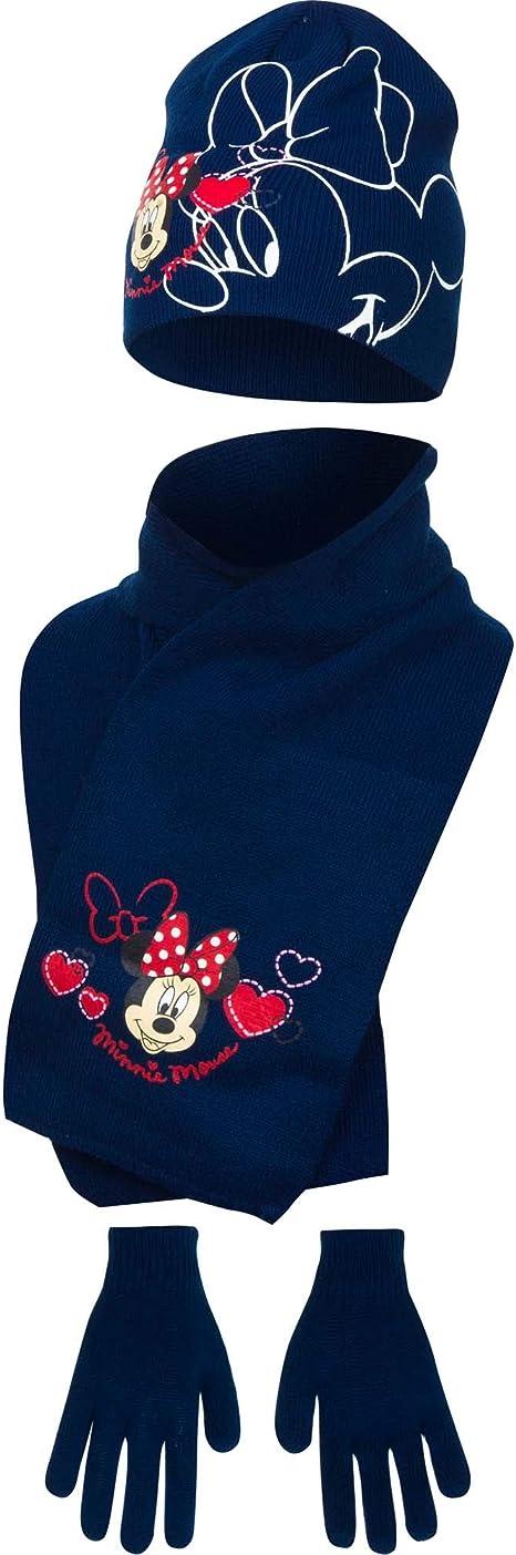 Disney - Conjunto Infantil de Gorro Bufanda y Guantes de Minnie ...