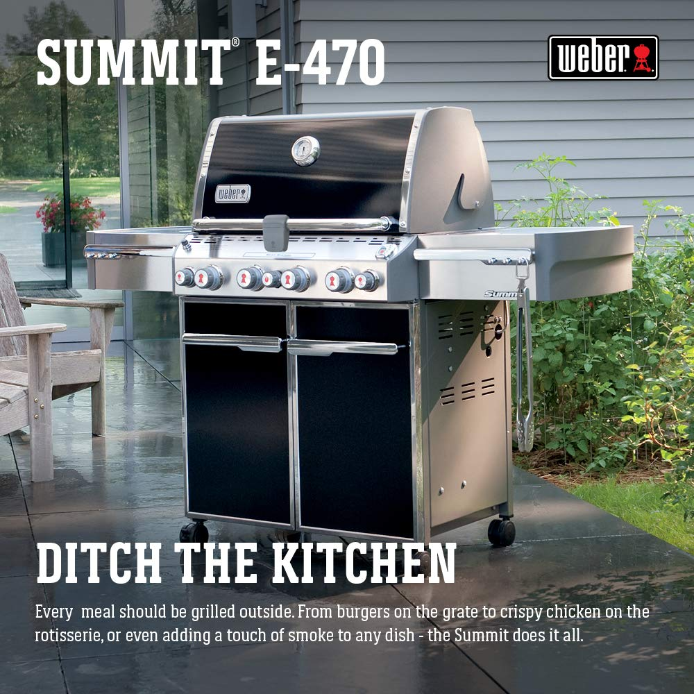Weber Summit E-470 Parrilla, color negro, 0, 3 m².: Amazon ...