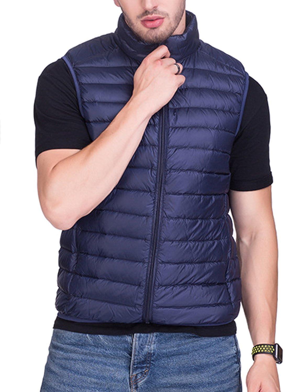 BELLOO Mens Winter Ultralight Down Gilet Vest