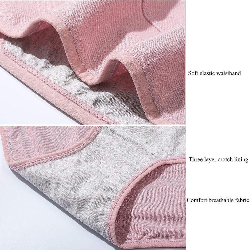 Confezione da 4 Nightaste Mutandine Periodo Mestruale Cotone Ragazze Micro Mesh Donna Post-Partum Anti-Perdite Mestruazione Bikini Slips Culotte