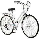 Schwinn Wayfarer Adult Bike Hybrid Retro-Styled Cruiser, Step-Over or Step-Through Frame Option, 7-Speed Drivetrain, Rear Rac