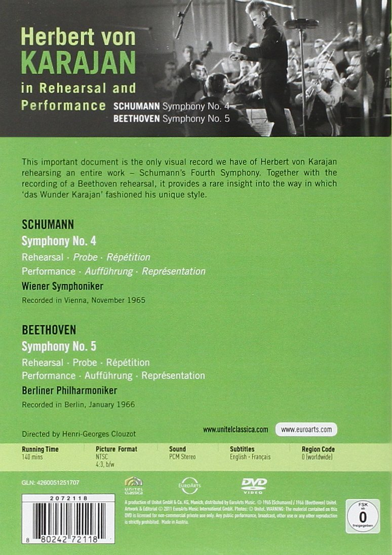Amazon.com: Herbert von Karajan in Rehearsal and Performance: Schumann, Beethoven, Wiener Symphoniker: Movies & TV