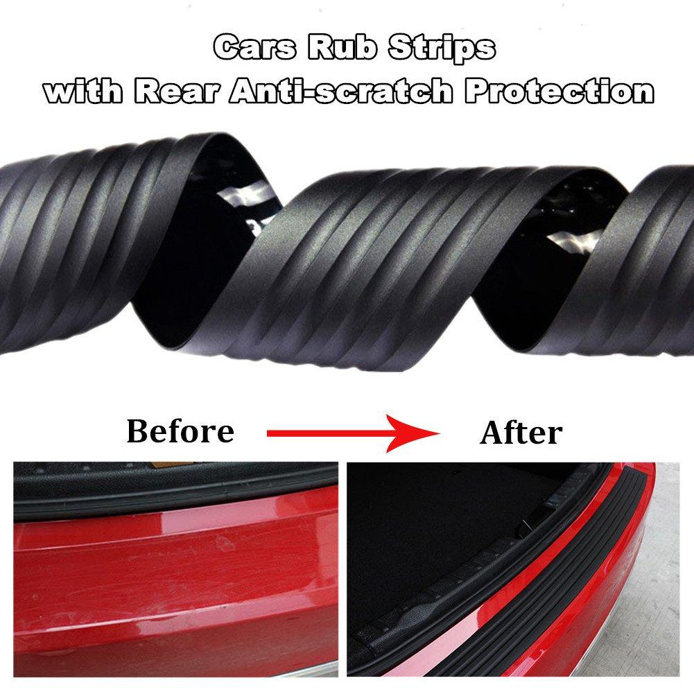 Silence Shopping Universal Car Rear Protezione paraurti in gomma Protector Trim Cover per auto nero 35,4 pollici Paraurti posteriore Protector Guard