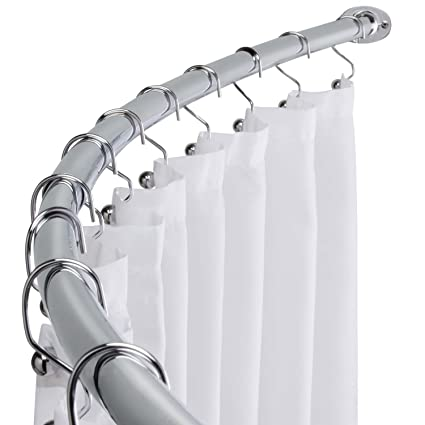 Image Unavailable Not Available For Color WholesalePlumbing Curved Shower Curtain Rod Adjustable Bath Tub