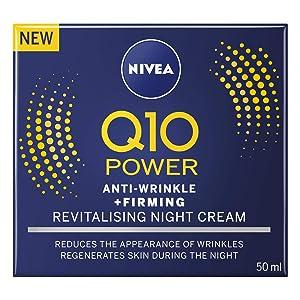 Nivea Q10 Plus Anti-Wrinkle Face Night Cream, 50 ml, Pack of 3