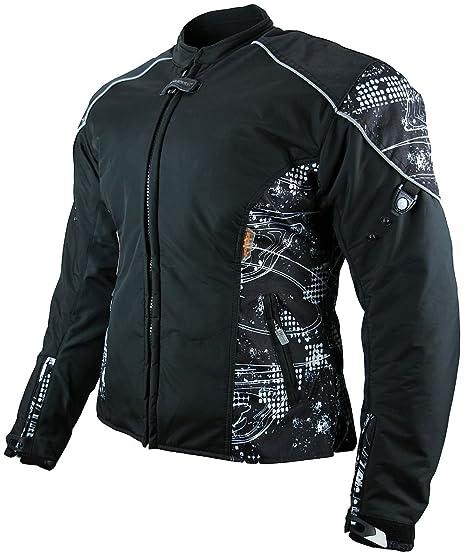Damen Motorrad Winter//Sommer Textiljacke Motorrad Jacke schwarz Größe XS-2XL