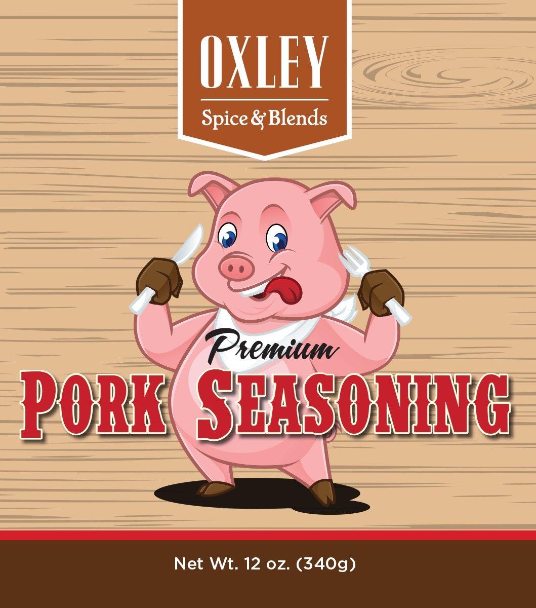 Premium Pork Meat Seasoning, 12 Ounce, For BBQ, Ribs, Pork Butt or Shoulder, Pork Chops, Tenderloin, BBQ