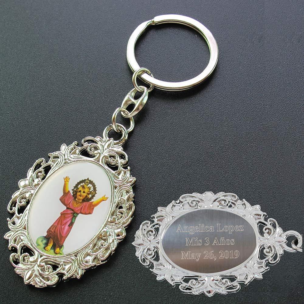 Amazon.com: Llavero de metal con diseño de Jesús para niño ...