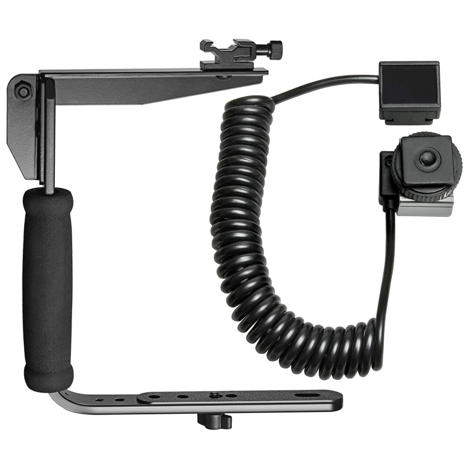 Vidpro VB-6 Rotating Arm Flash Bracket with i-TTL Off-Camera Flash Cord for Nikon Digital SLR Cameras