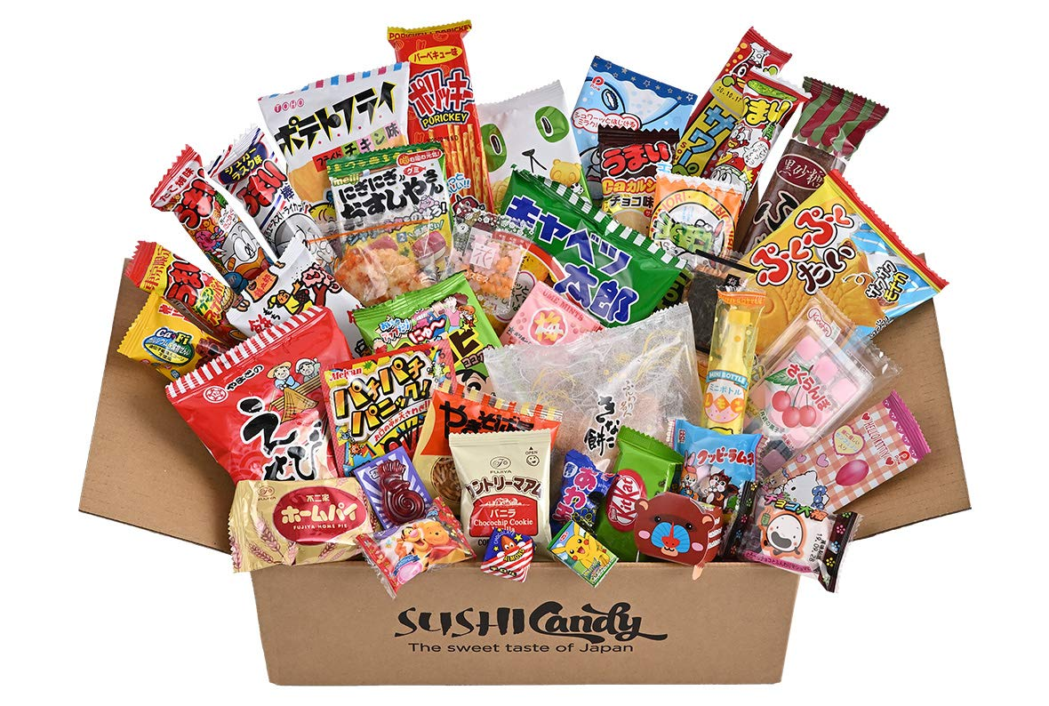 40 Japanese candy box with Japanese kitkat and manga DIY candy Japanese candy