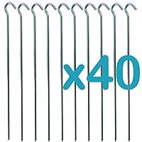 Hyfive - piquets de tente - Camping métal galvanisé marbre crochets - Lot de 40