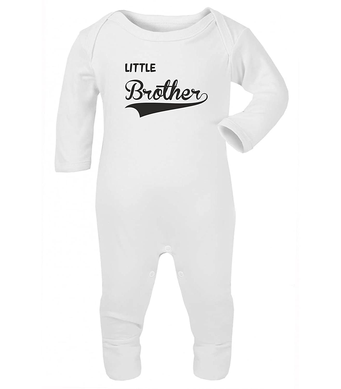 Little Brother Baby Grow Rompersuit Sleepsuit (3-6 Months, Maroon) ICKLE PEANUT