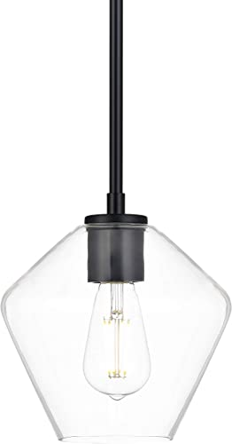 Macaria Modern Hanging Pendant Light | Black Pendant Lighting