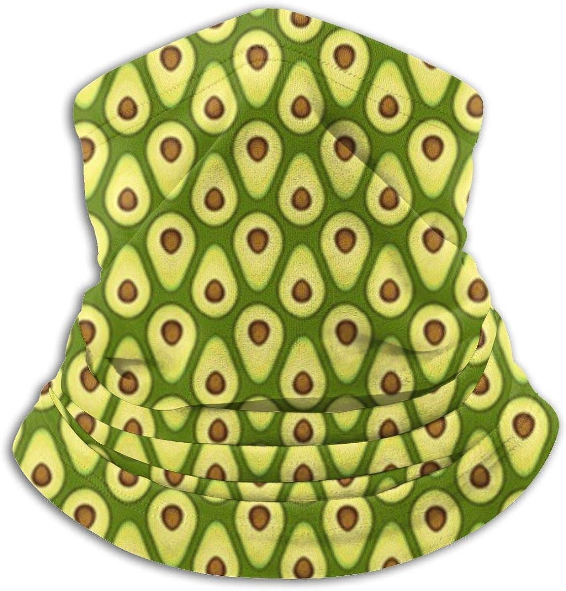 Microfiber Neck Warmer Eat The Avocado Neck Gaiter Tube Ear Warmer Headband Scarf Face Mask Balaclava Black