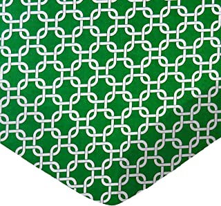 product image for SheetWorld Fitted Sheet (Fits BabyBjorn Travel Crib Light) - Green Links - Made In USA