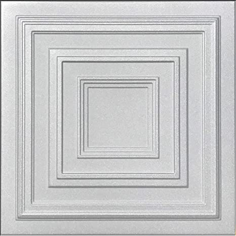 Antyx White Foam Ceiling Tile 100pc Box Decorative Ceiling Tile Easy Glue Up Diy