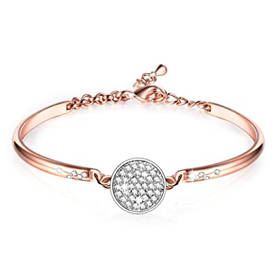8abbd2feb0a GEORGE · SMITH ❤️Cadeau Noël❤ Ma Fille Bracelet en Or Rose Bracelet réglable
