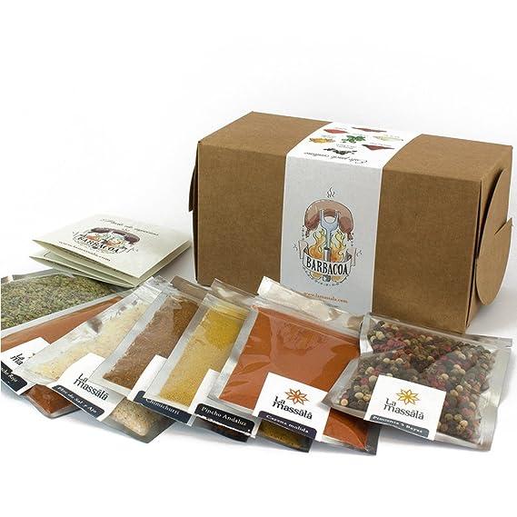 Especias para Barbacoa con Recetas incluidas: Chimichurri, Orégano, Pimienta Diabla 5 Bayas,