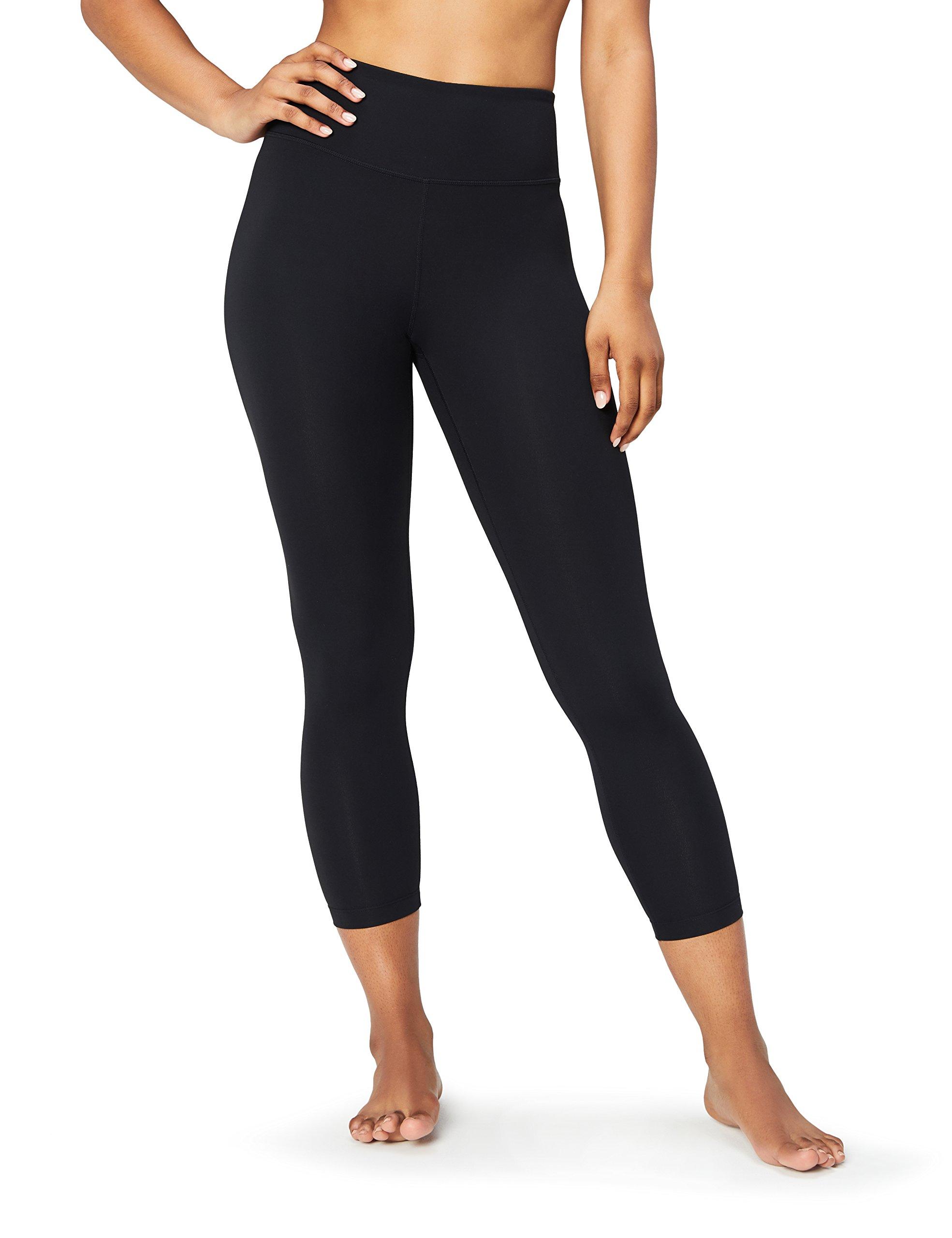 Core 10 Women's Spectrum High Waist Yoga 7/8 Crop Legging - 24'', Black, Large
