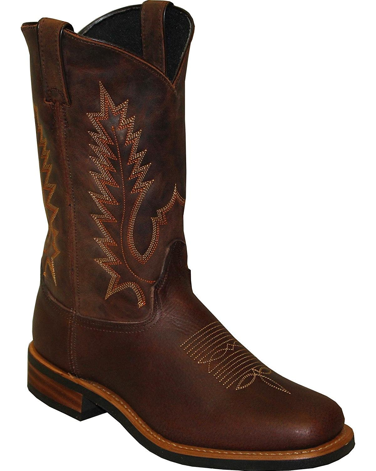 Abilene Mens Sage by 11 Cowhide Western Boot Square Toe Brown 9.5 EE