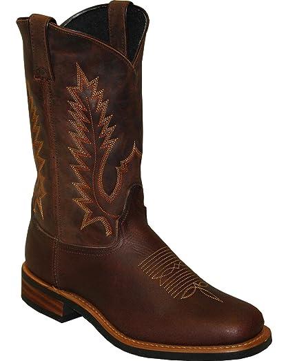 """Men's Sage by 11"""" Cowhide Western Boot Square Toe Brown 8.5 EE"""