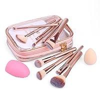 DAJIABUY Pinceaux Maquillage Cosmétique Professionnel 12 pcs Set/Kit Cosmétique Brush Beauté Maquillage Brosse Makeup Brushes avec Blender éponge et brosse Cleaner Cosmétique Fondation avec Sac