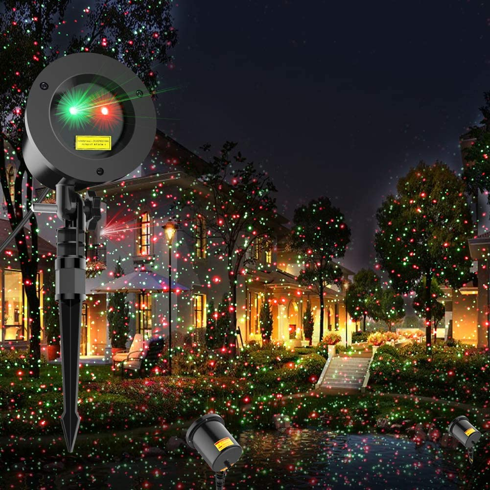 Christmas Laser Lights Projector Star Laser Lights Show for Outdoor Decorations Waterproof Landscape Lighting Ornament for Christmas and Holidays