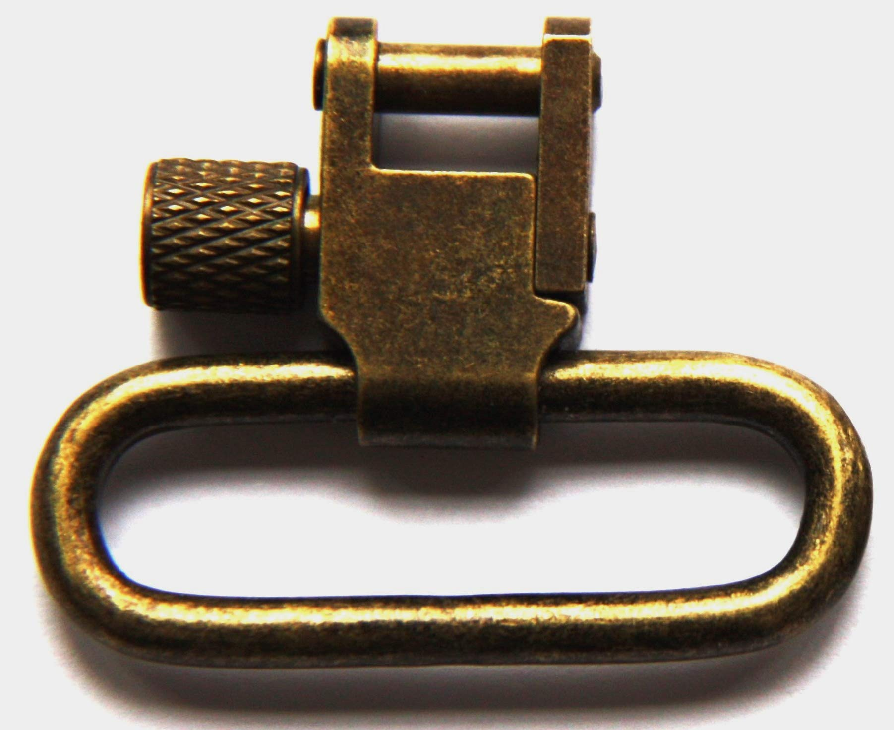 Detroit Leather Shop Pair of Antique Brass Finish 1.25 Inch Tri-Lock Rifle Sling Swivels by Detroit Leather Shop