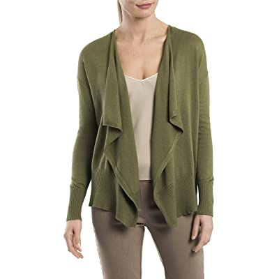 89th & Madison Long Sleeve Open Cardigan with Draped Front