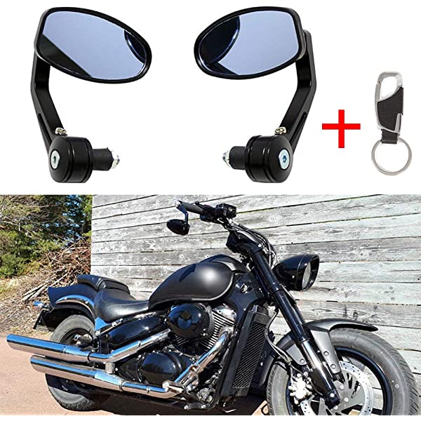 SUNDELY/® Hi-Q Black Bike Mirror Mountain Bicycle Rearview Handlebar End Rear Back View