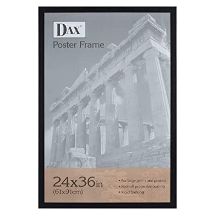1aa19c465ca Amazon.com - Dax 24x36 Narrow Black Environmentally Friendly Wood Composite  Wall Display Poster Frame - Prints