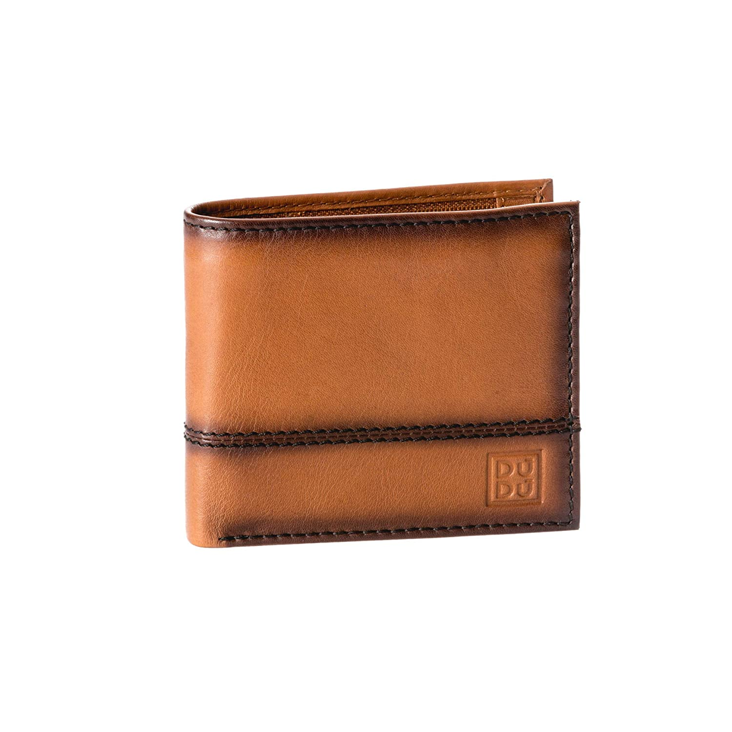 620fca552d6b Small mens wallet with coin pocket in genuine leather and inner zip slot DUDU  Light brown  Amazon.co.uk  Luggage