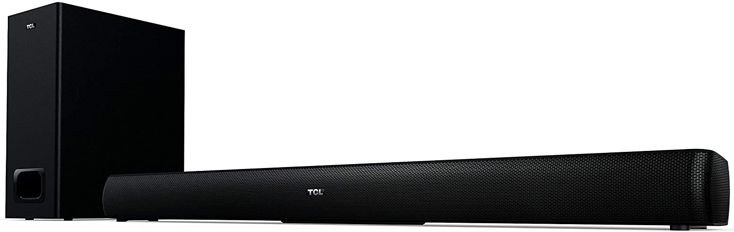 """TCL Alto 5+ 2.1 Channel Home Theater Sound Bar with Wireless Subwoofer - Ts5010, Black, 32"""""""