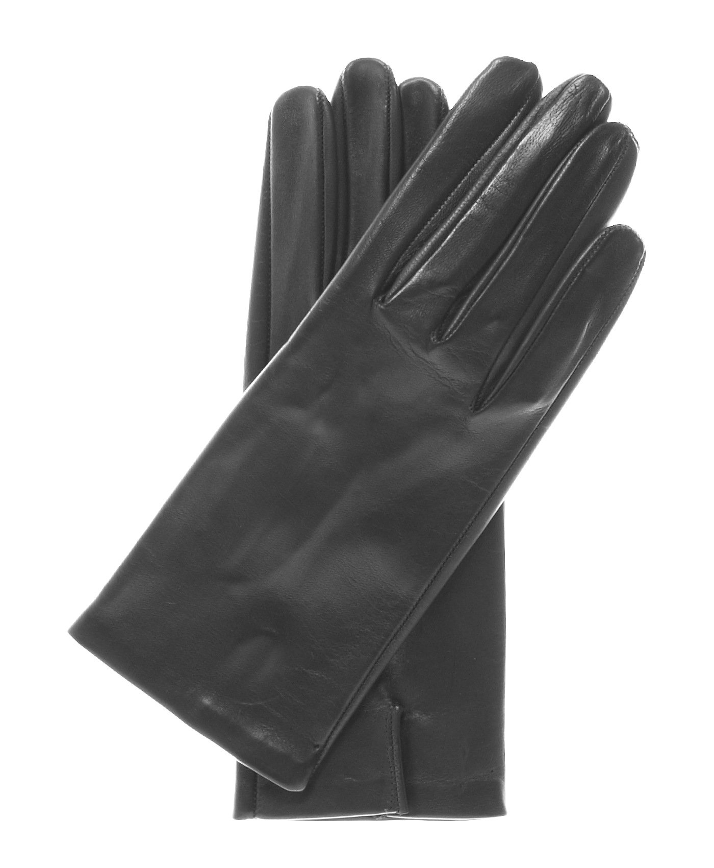 Fratelli Orsini Women's Touchscreen Italian Silk Lined Leather Gloves Size 8 1/2 Color Black