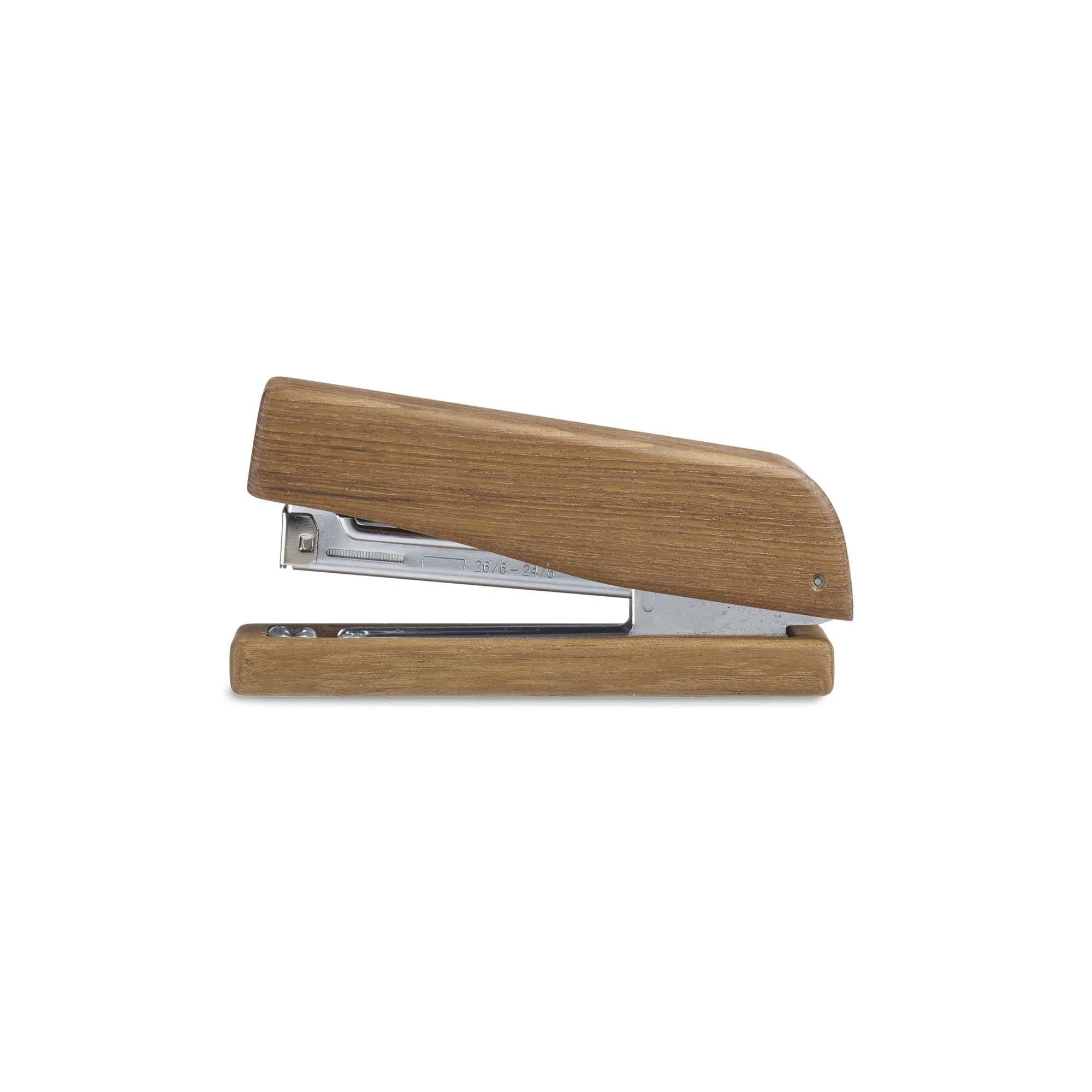 Design Ideas Takara Stapler, Teak Wood Desktop Stapler for Office or Home, Brown