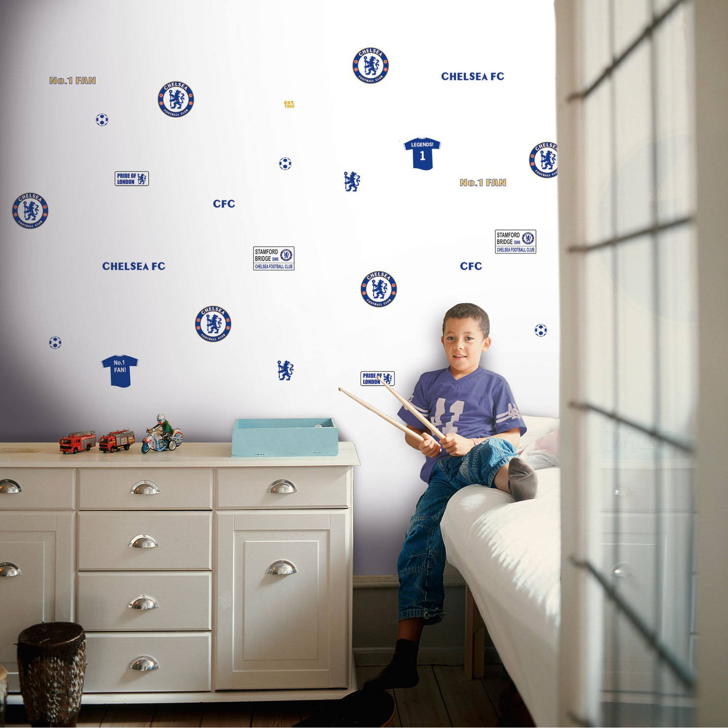 Chelsea wall stickers choice image home wall decoration ideas chelsea fc wall sticker blue amazon kitchen home amipublicfo choice image amipublicfo Gallery