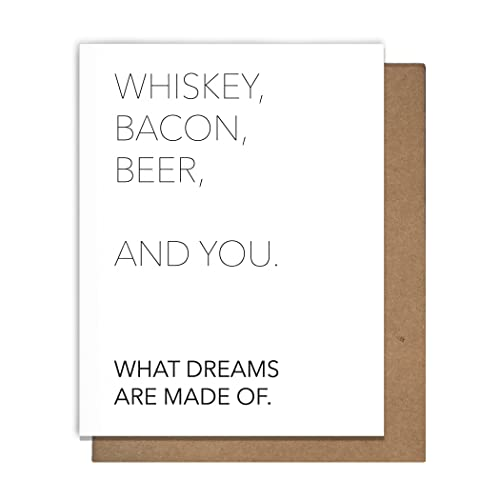 Amazon whiskey bacon beer you funny letterpress greeting cards whiskey bacon beer you funny letterpress greeting cards just because greeting cards love anniversary girlfriend boyfriend m4hsunfo