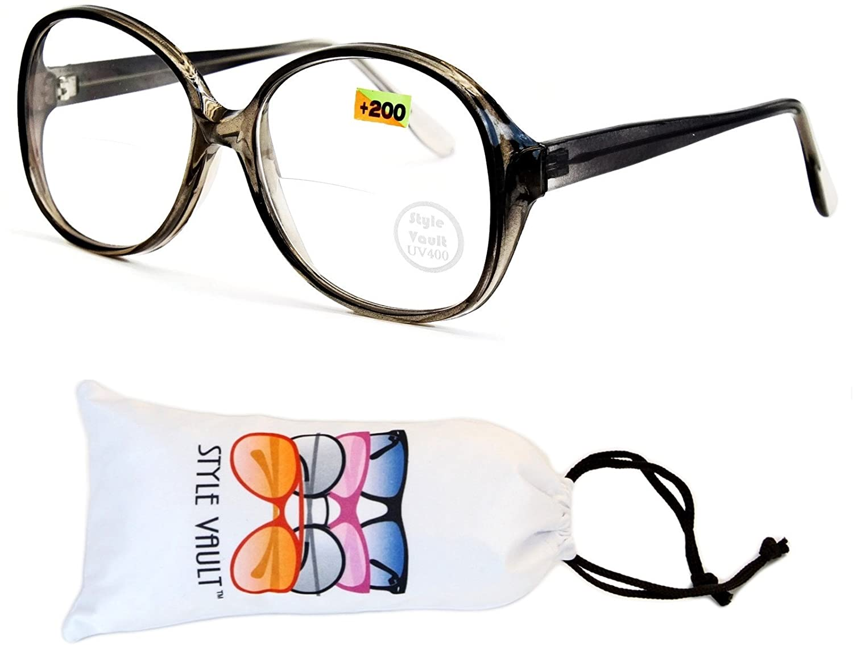 E3072-vp Style Vault Oversized Bifocal Reading Glasses
