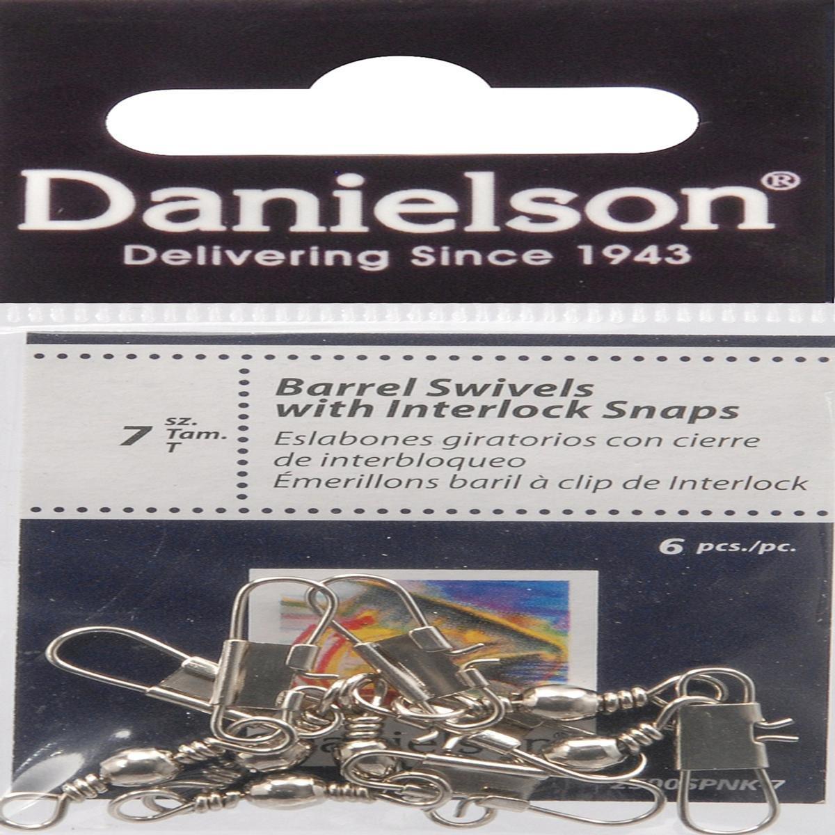 ダニエルソンSwivelバレル/インテルスナップnk7釣り機器   B009QP7PQM