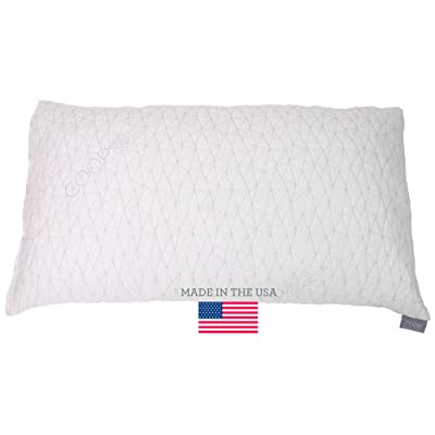 Improved Design - Adjustable Shredded Memory Foam Pillow