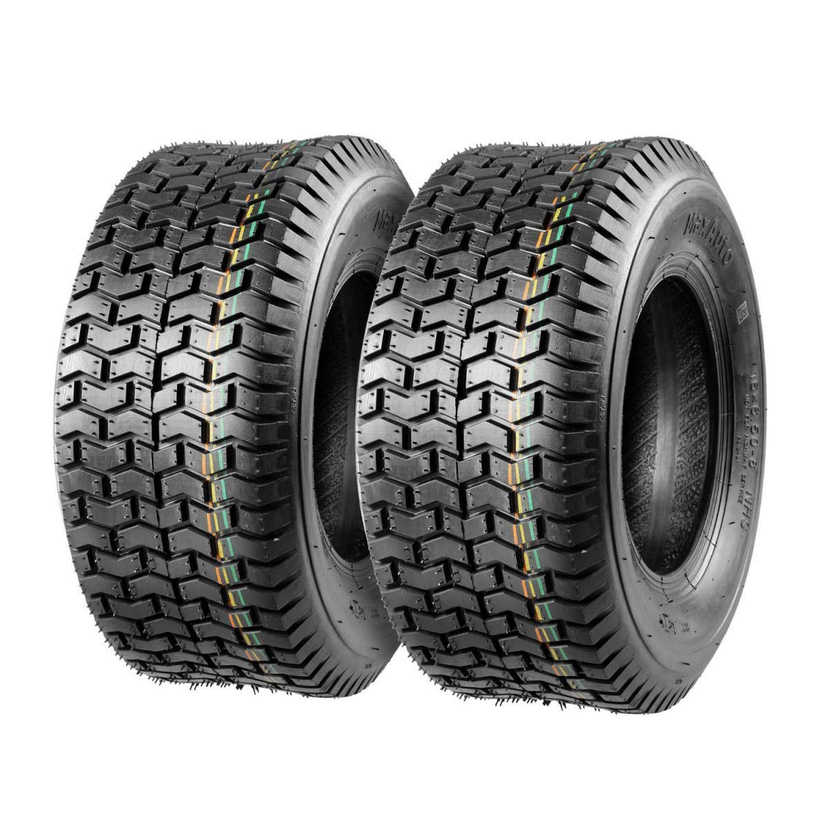Set of 2 16x6.50-8 16/6.50-8 6-6.50-8 16x650x8 Turf Tires 4Ply Tubeless Replacement for John Deere Lawn Tractor Turf Saver, DOT Compliant by MaxAuto